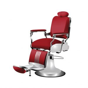 52549043 - vector red barber chair on a white background