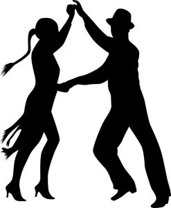 20009698 - dance people silhouette
