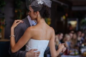First wedding dance. Shallow depth of field