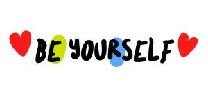 Be Yourself creative motivation quote design typography